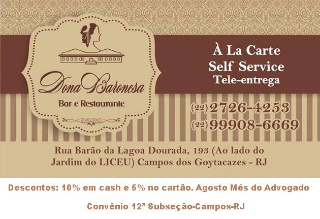 Dona Baronesa  Bar e Restaurante